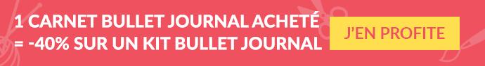 1 bullet journal acheté = -40% sur 1 kits Daily Journal