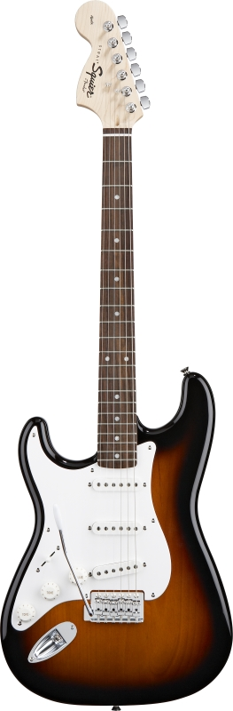 Squier - Stratocaster Brown Sunburst Affinity Gaucher