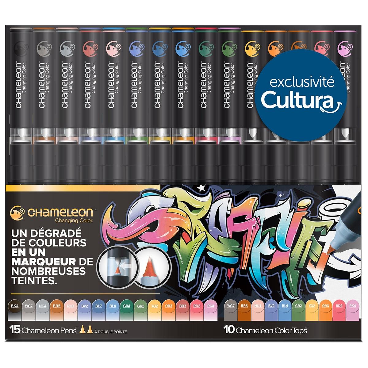 Set de 15 marqueurs Chamelon Pens et 10 Chameleon Color Tops