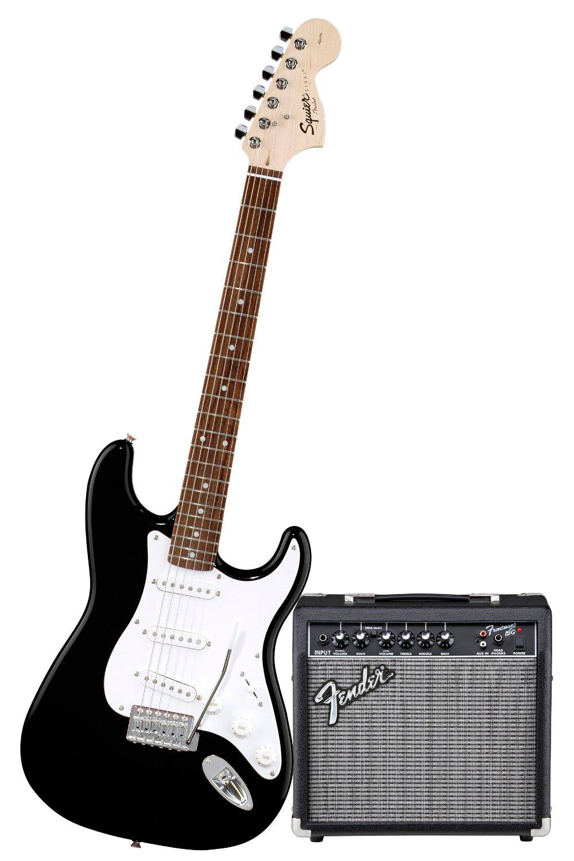 Squier - Pack Stratocaster Noir + Ampli Frontman 10G
