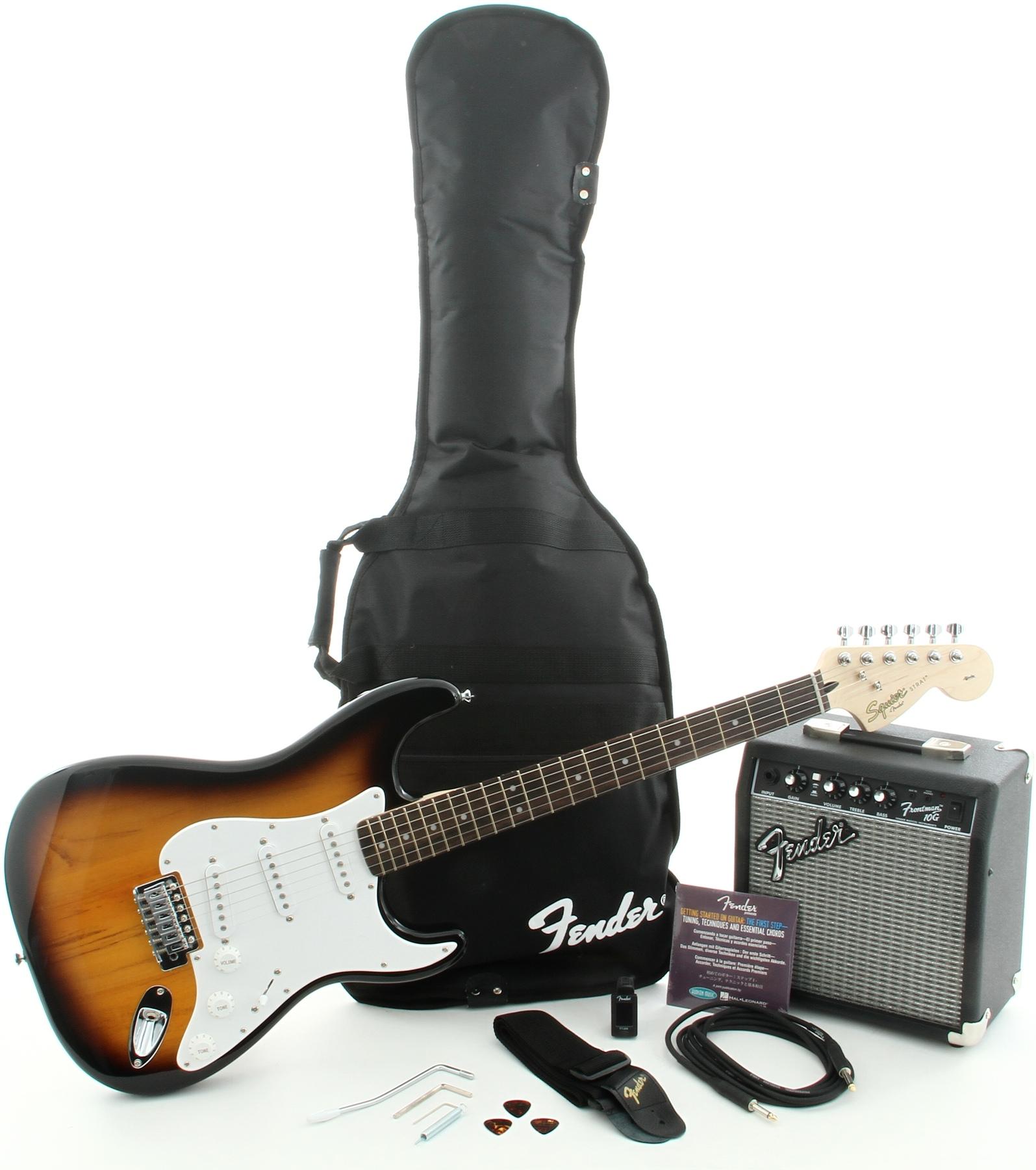 Squier - Pack Stratocaster Sunburst + Ampli Frontman 10G