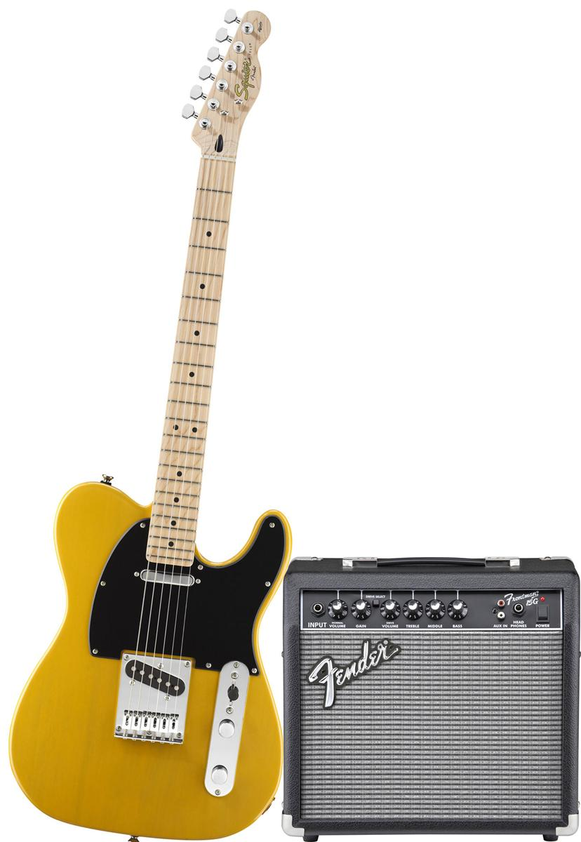Squier - Pack Telecaster Blonde + Ampli Frontman 15G