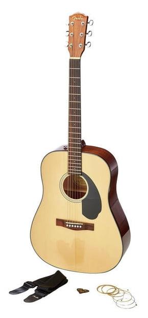Fender - ¨Pack guitare folk CD-60S Naturel