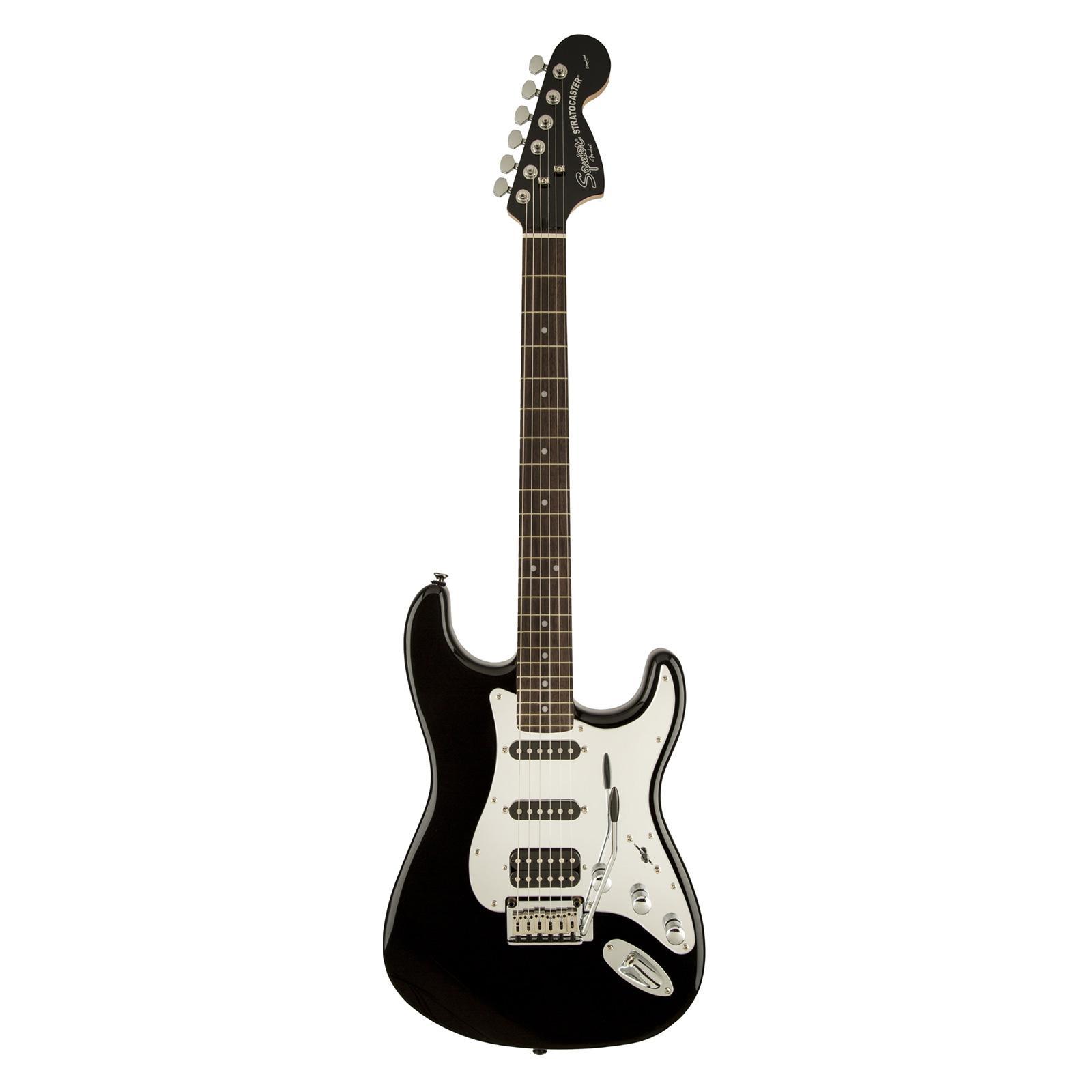 Fender - Guitare Stratocaster Black and Chrome  HSS - noir