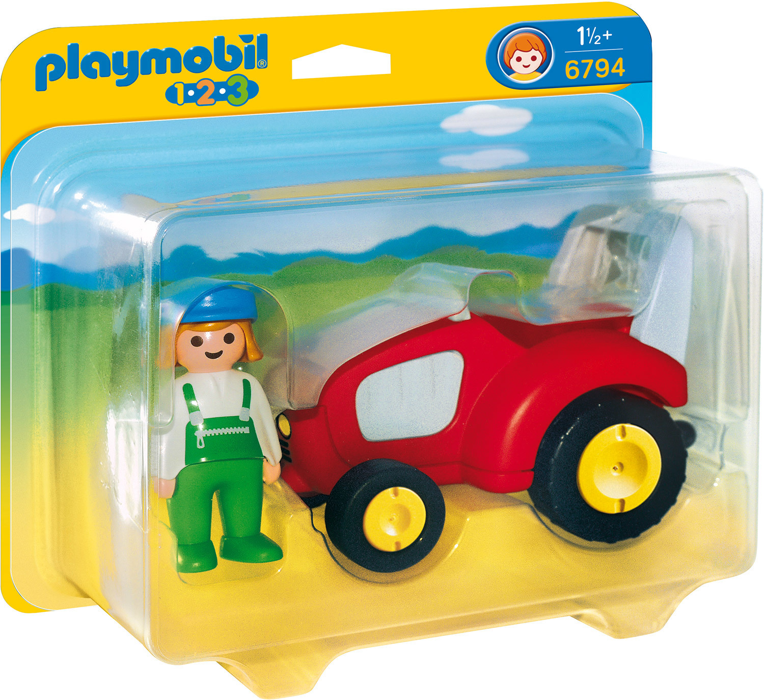 Agricultrice avec tracteur - Playmobil 1.2.3 - 6794