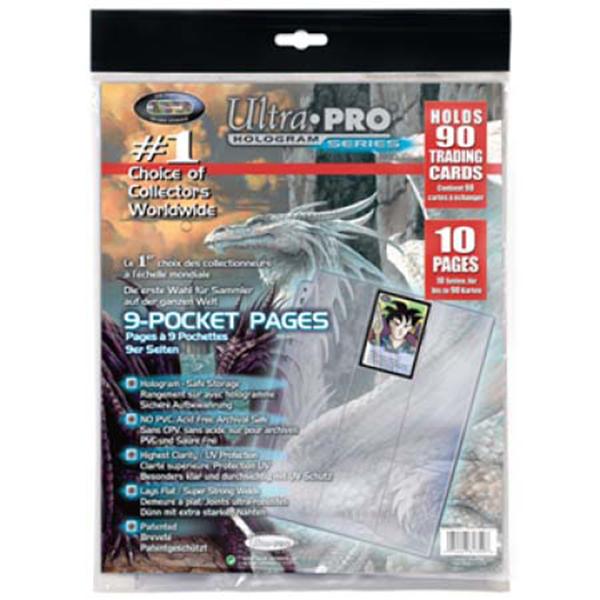 10 feuilles pour rangement cartes - Ultra pro