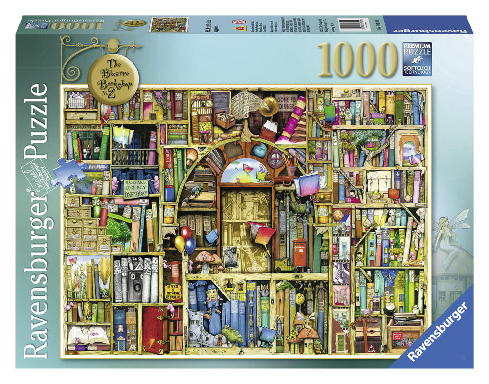 Puzzle 1000 pièces - Bibliothèque Bizarre - Ravensburger