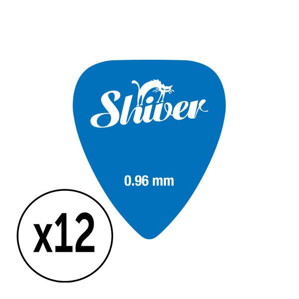 Shiver - 12 médiators nylon 0.96 bleu