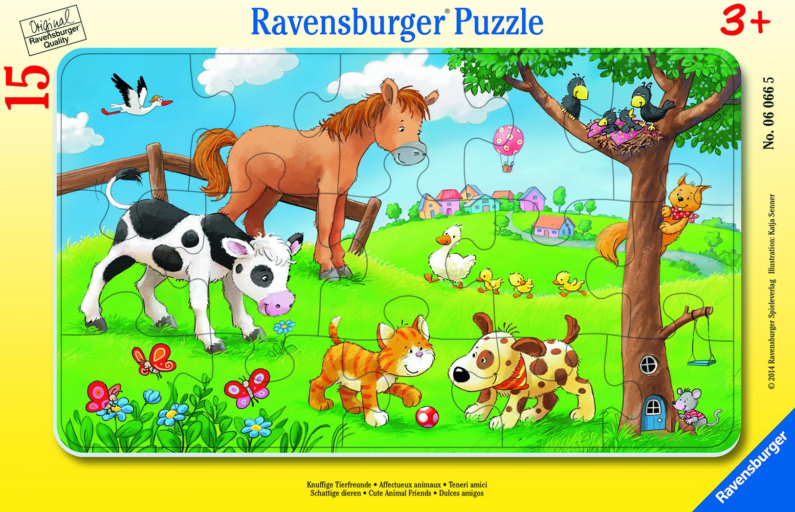Puzzle Affectueux Animaux - 15 pièces - Ravenburger