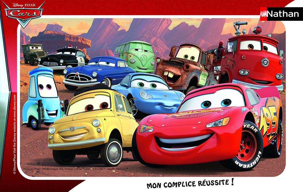 Puzzle avec cadre : Le monde de Cars - 15 pièces