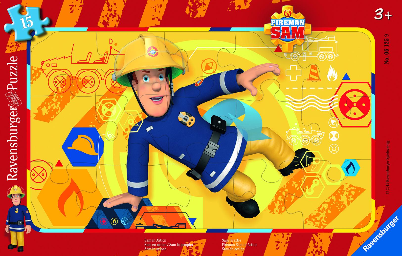 Puzzle 15 pièces - Sam le pompier - En action - Ravensburger