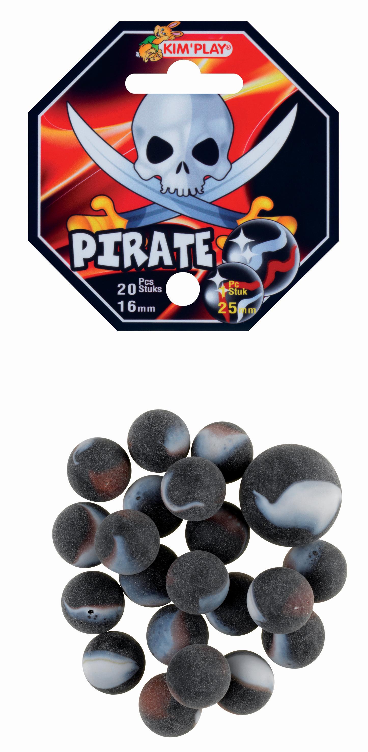 20 billes + 1 calot Pirate