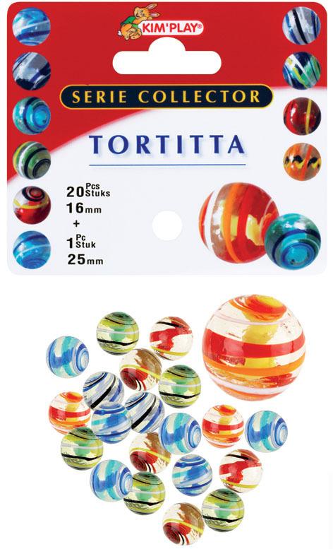 20 billes 16 mm et 1 calot 25 mm Tortitta