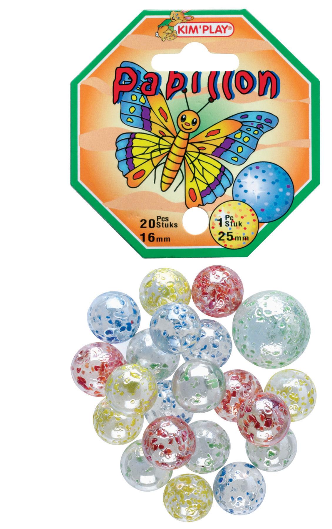 20 billes + 1 calot Papillon