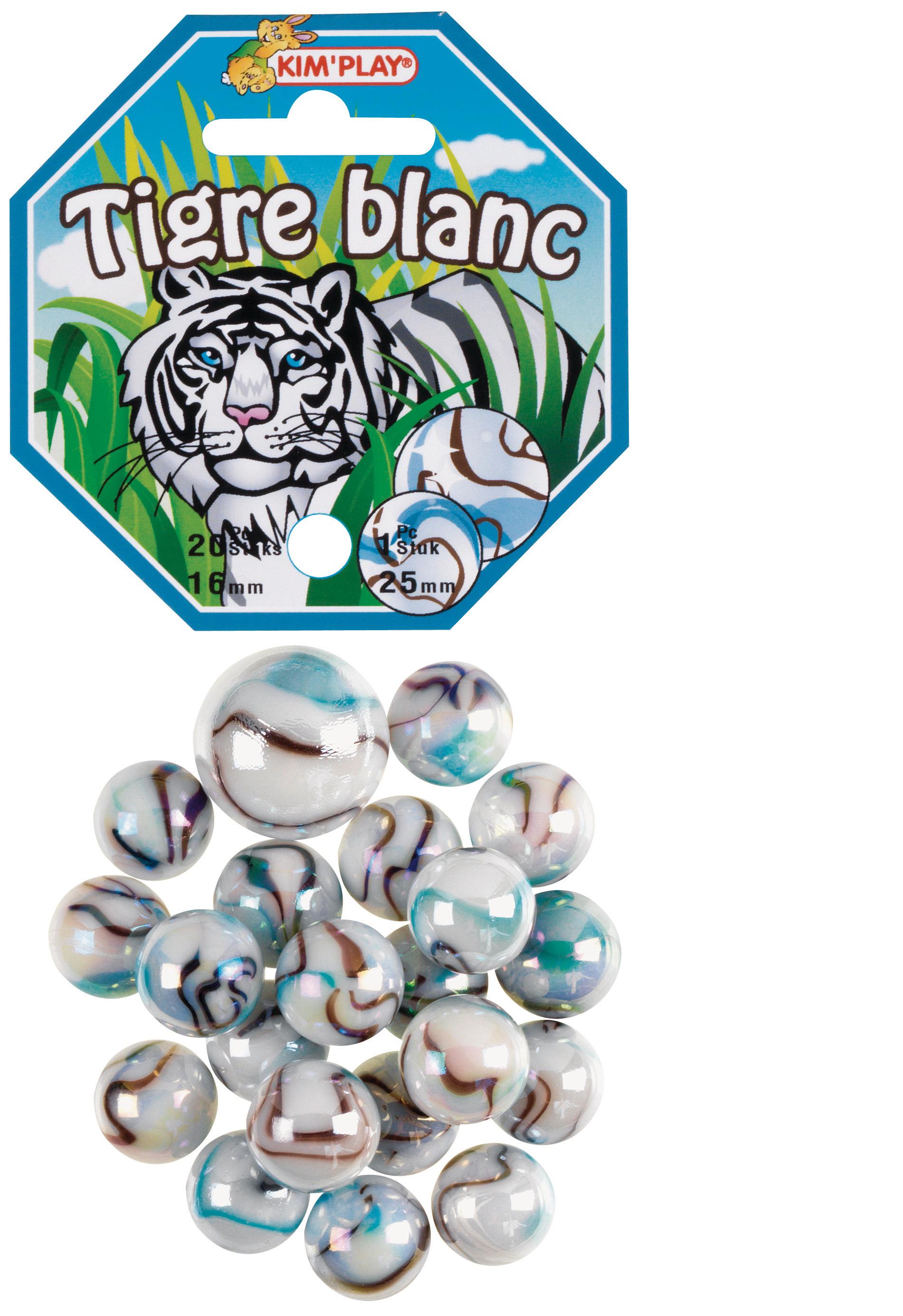 20 billes + 1 calot Tigre