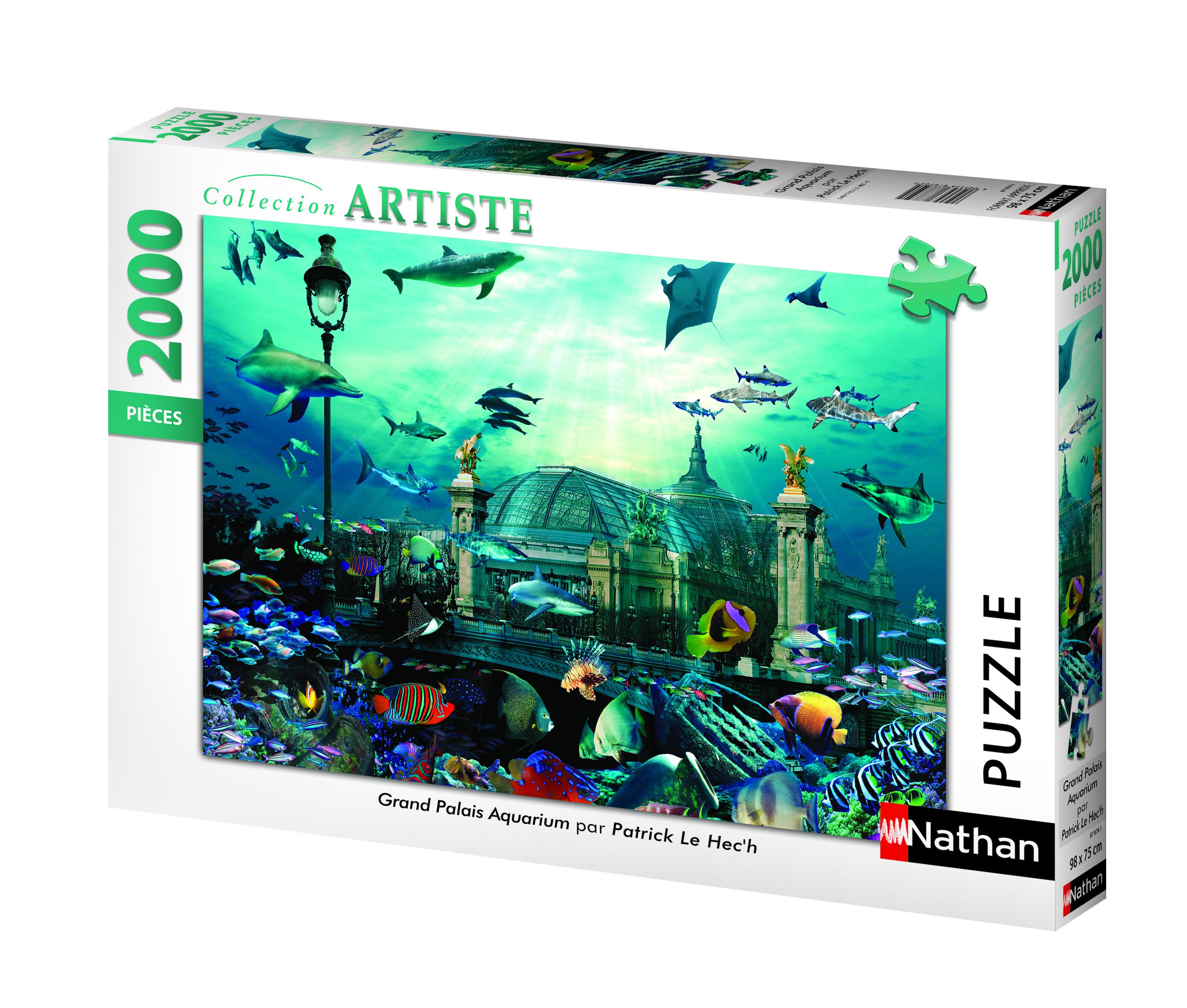 Puzzle 2000 pièces - Grand palais aquarium - Nathan - 98x75 cm