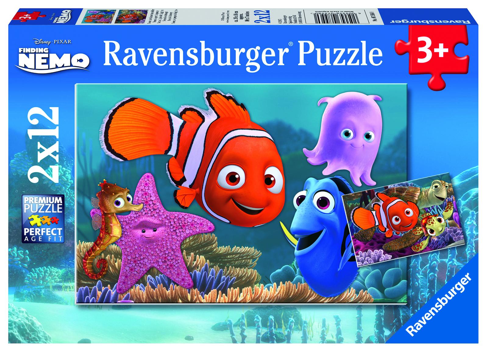 Puzzle 2 x 12 pièces - Némo le petit fugueur - Ravensburger - 26x18 cm