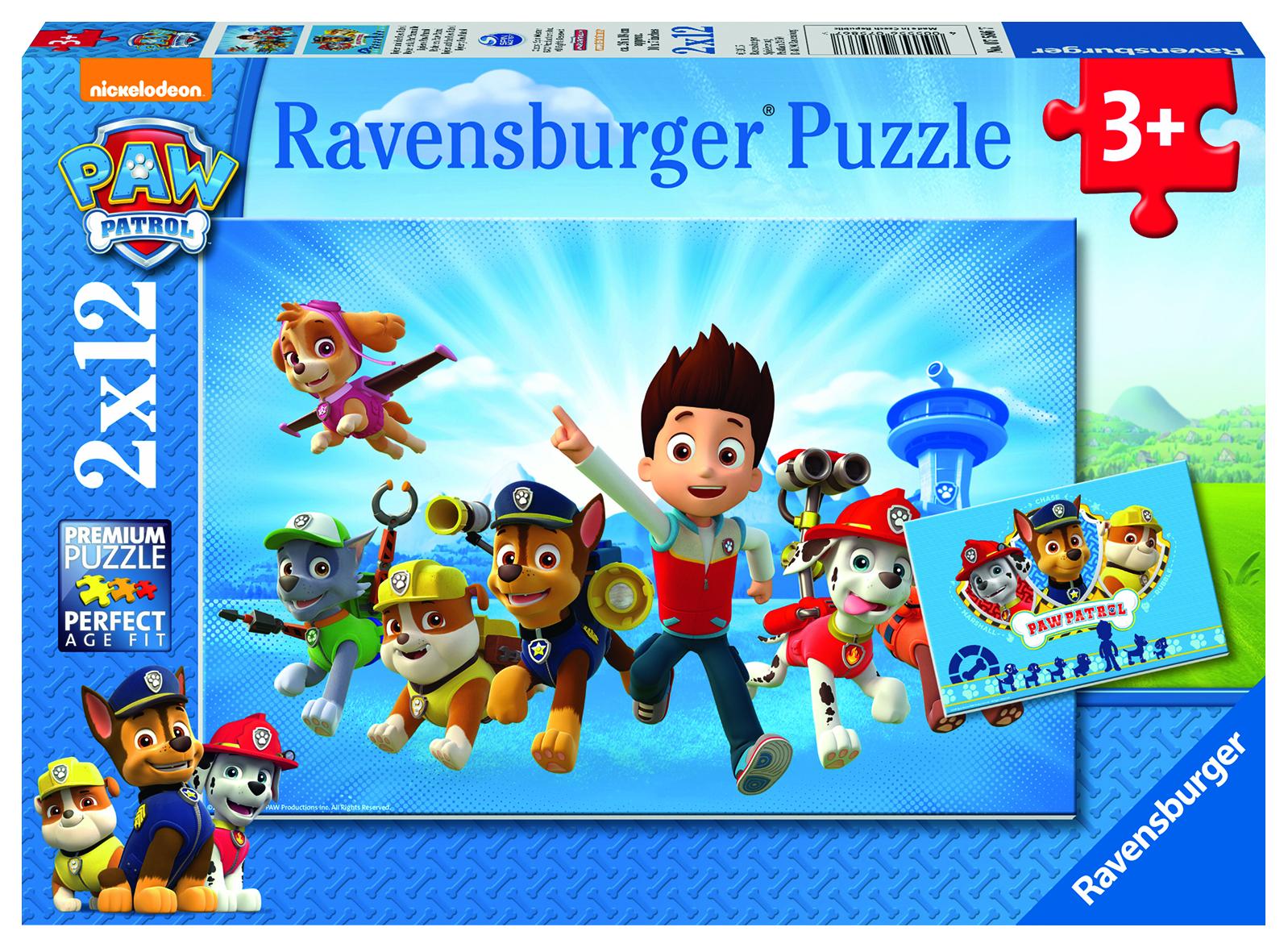 Puzzles Pat Patrouille - 2x12 pièces