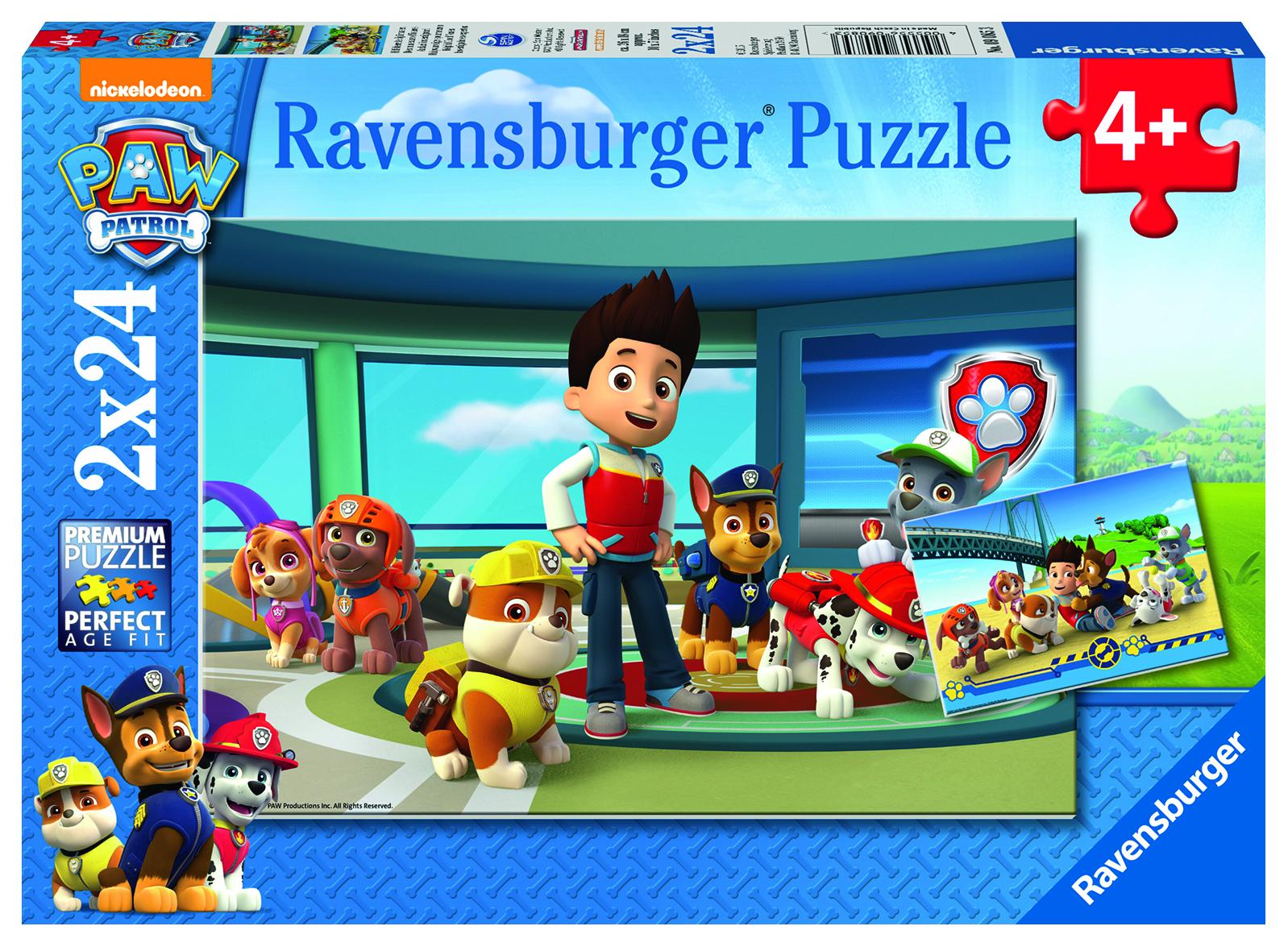 Puzzle 2x24 pièces - Pat Patrouille - Museaux efficaces/ - Ravensburger