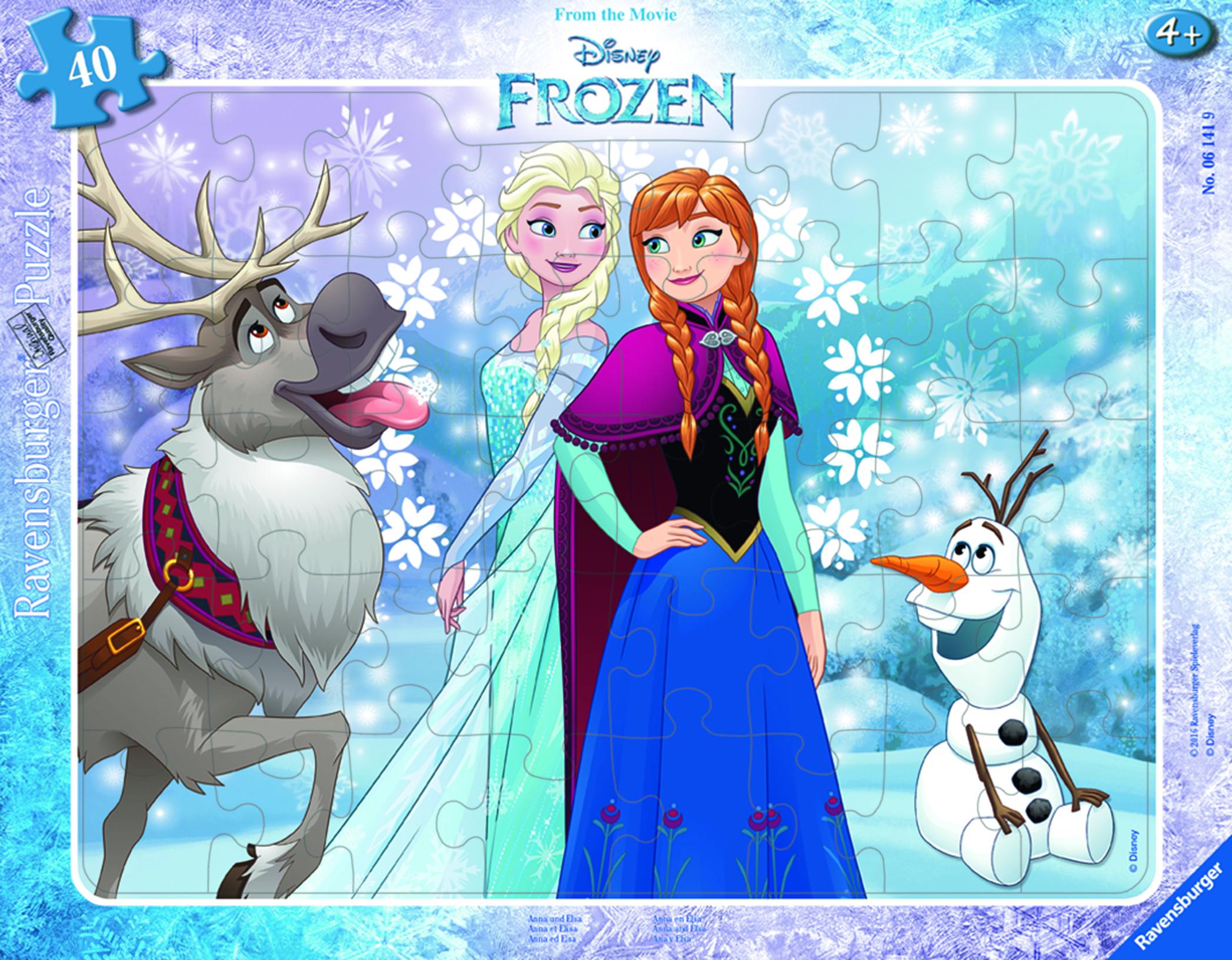 Puzzle 30/48 pièces - La Reine Neiges - Anna et Elsa - Ravensburger