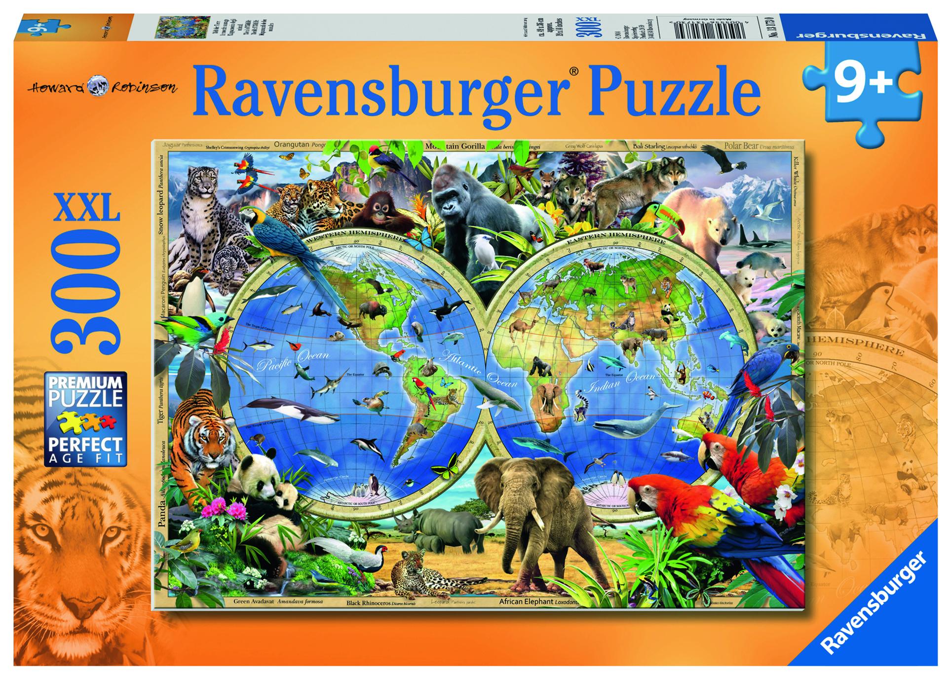 Puzzle 300 pièces XXL - Le monde sauvage - Ravensburger - 61x46 cm