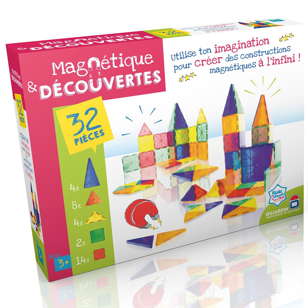 Magnétique et découvertes - boite 32 pièces - Dujardin
