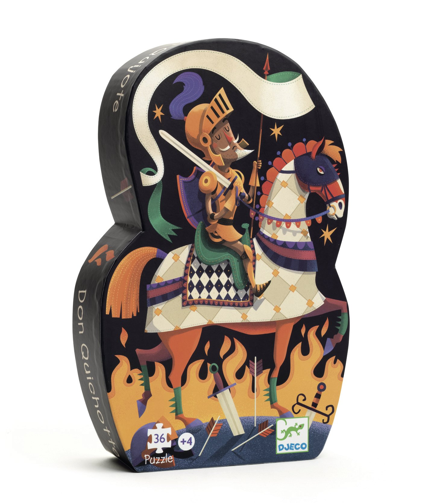 Puzzle silhouette - Don Quichotte - 36 pièces