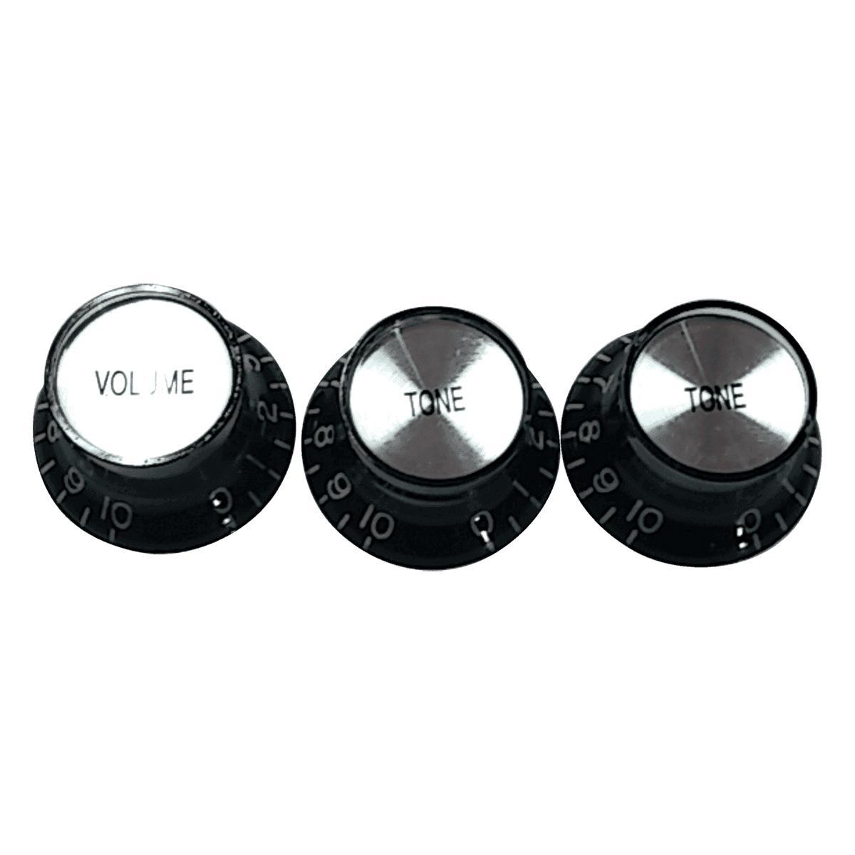 Yellow Parts - ADI EZ2215B - Set de 3 boutons de réglages - Noir