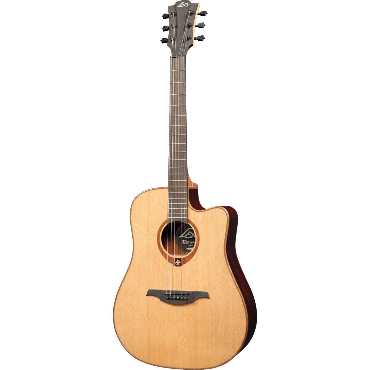 Lag - GLA T100DCE - naturelle - Guitare électro-acoustique