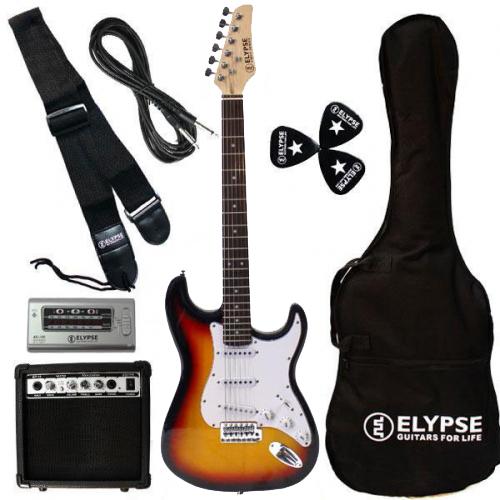 Pack guitare électrique Vénus Sunburst avec méthode