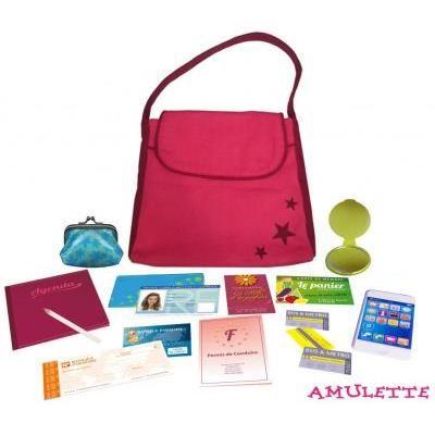 Mon sac à moi - rose et étoiles