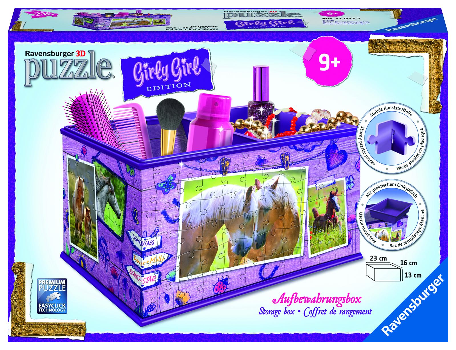 Puzzle 3D cheval - Boite rangement