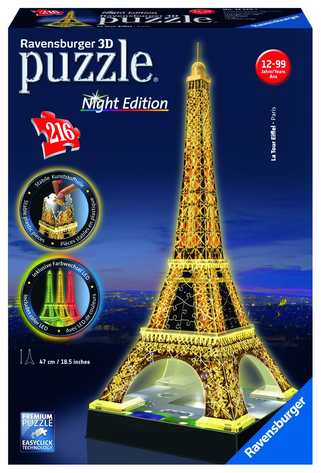 Image du produit Tour Eiffel de nuit - Puzzle 3D