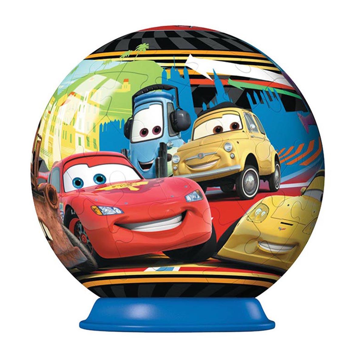 3D PUZZLE ROND 54P CARS2