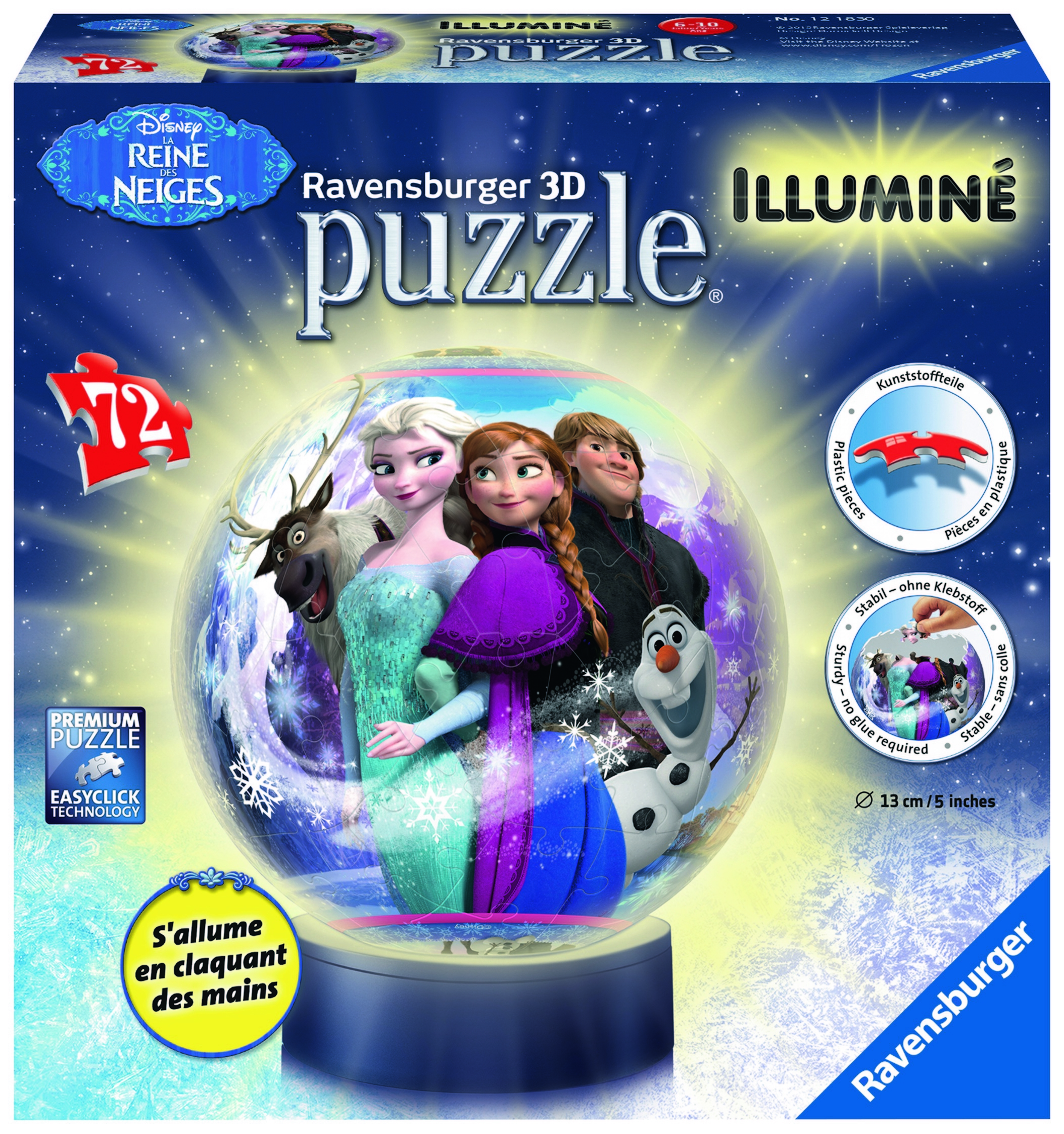 Puzzle 3D illuminé - La Reine des Neiges