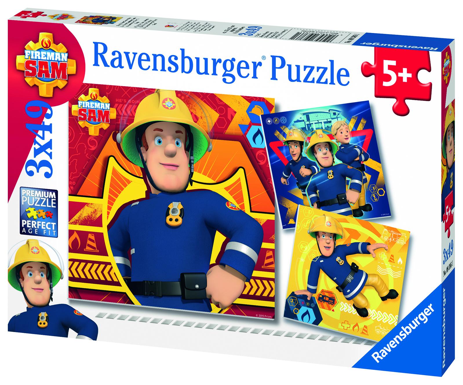 3 Puzzles 49 pièces - En Danger Appelez Sam ! - Ravensburger