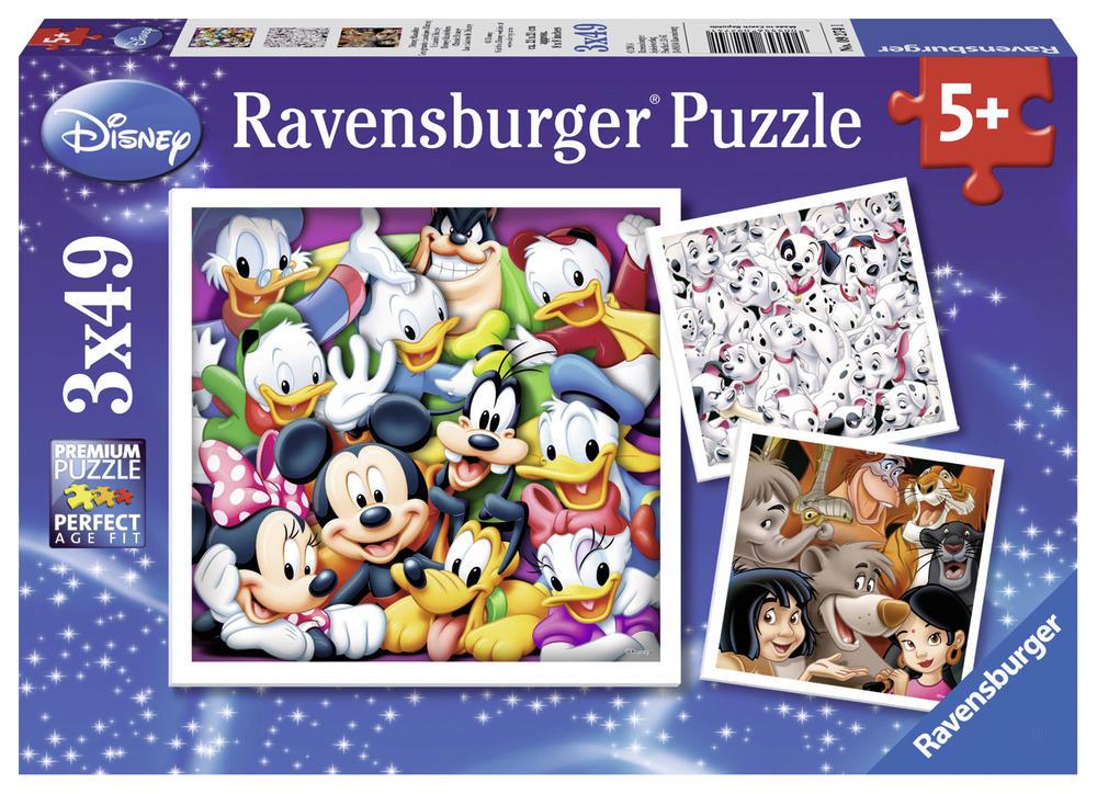 Puzzle Grands classiques Disney - 3x49 pièces