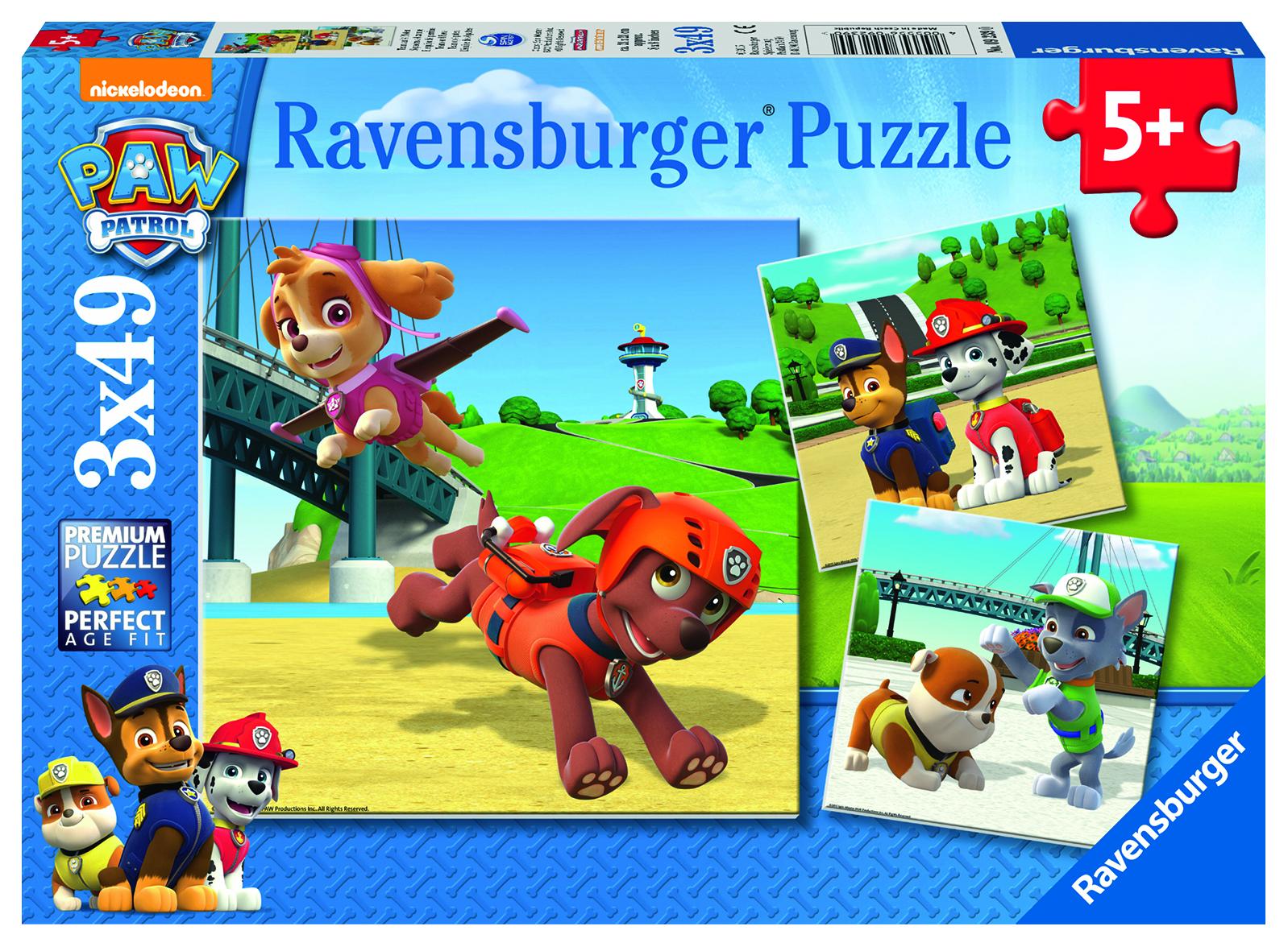 Puzzles Pat Patrouille - 3 x 49 pièces