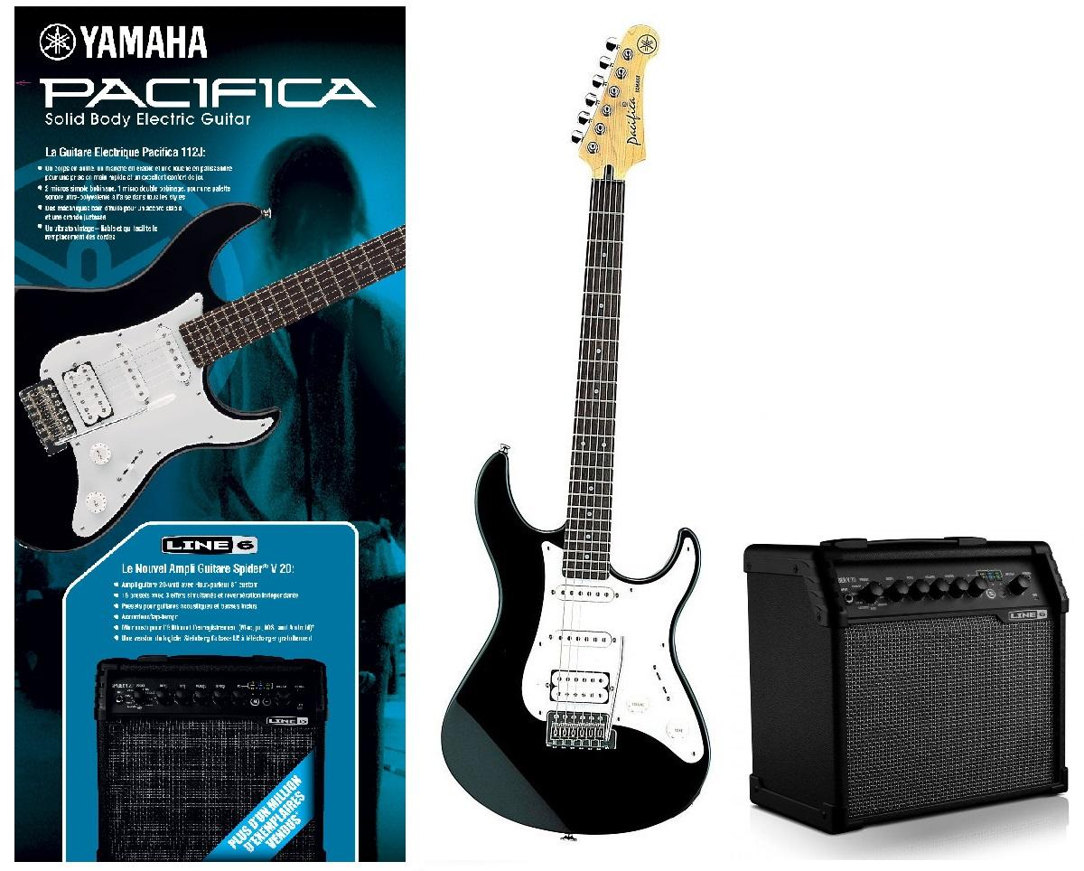 Pack guitare électrique Yamaha Pacifica 112 JBL + Ampli Line 6 Spider V20