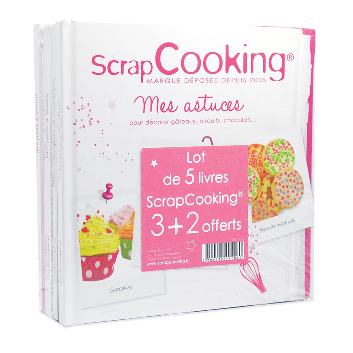 Image du produit Lot de 5 livres  de recettes - Scrapcooking