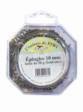 Sachet de 50 grammes d'épingles 10mm