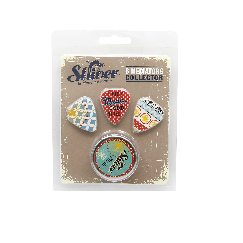 Shiver - 6 médiators - Collector Folk Vintage 0.71