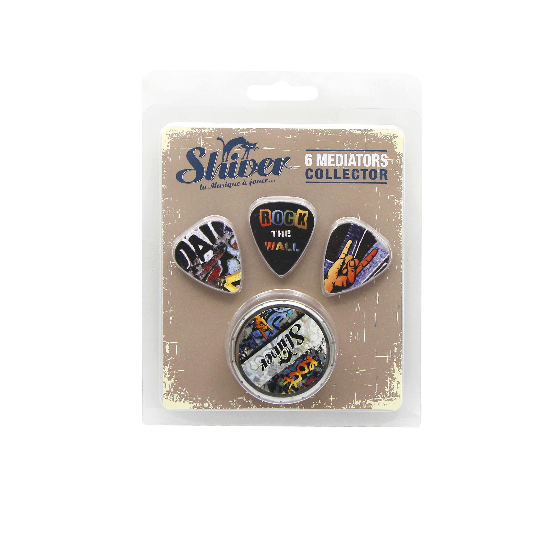Shiver - 6 médiators - Collector Rock Graph 0.71