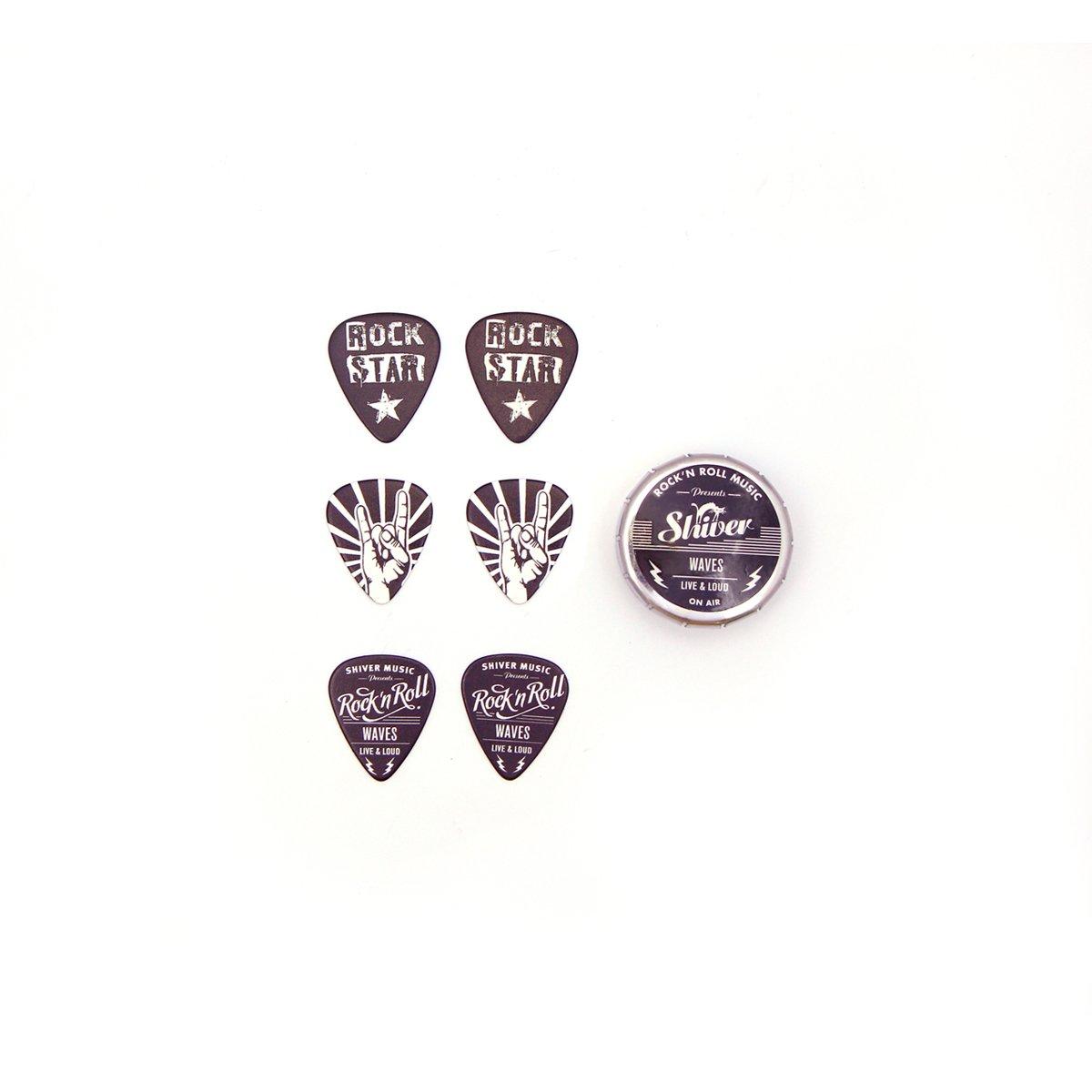 Shiver - 6 médiators - Collector Rock Vintage 0.71