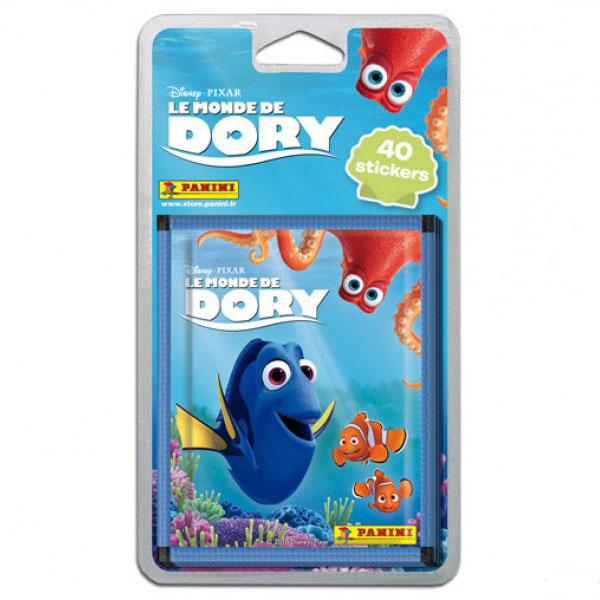 40 stickers Panini - Le monde de Dory - 8 pochettes