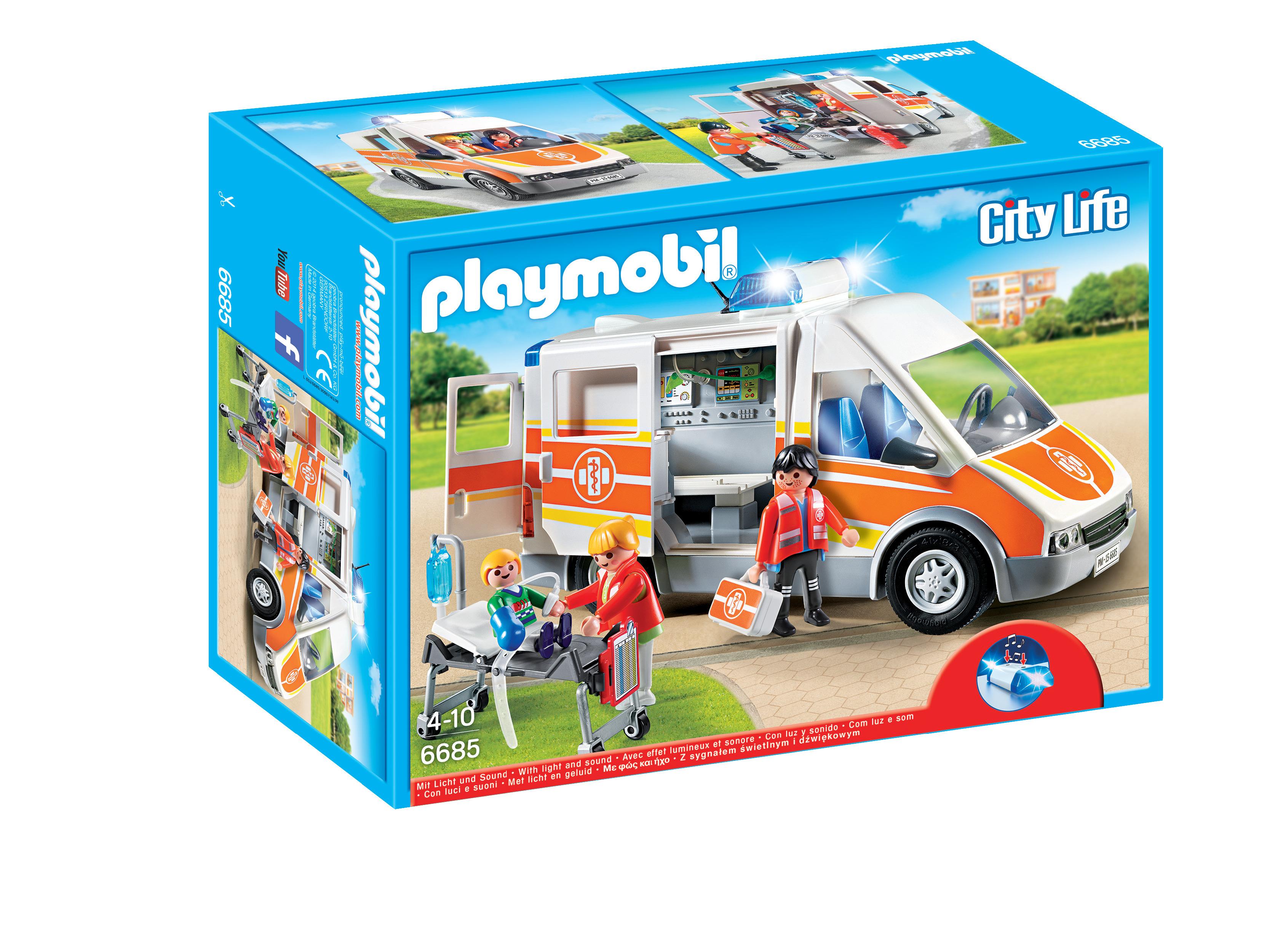 Ambulance avec gyrophare et sirène - Playmobil - 6685