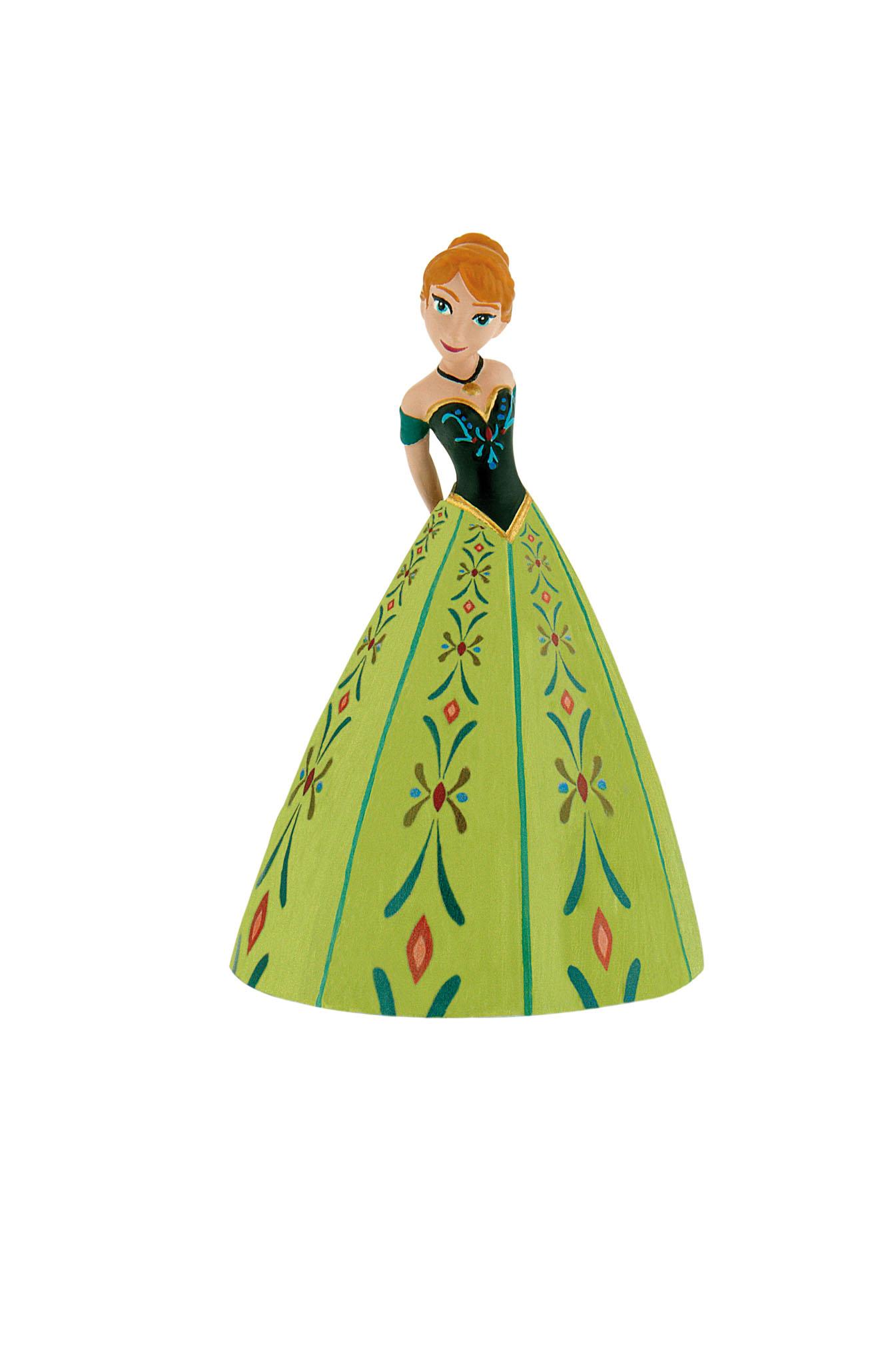 Figurine La Reine Des Neiges Disney - Anna robe verte - 12 cm