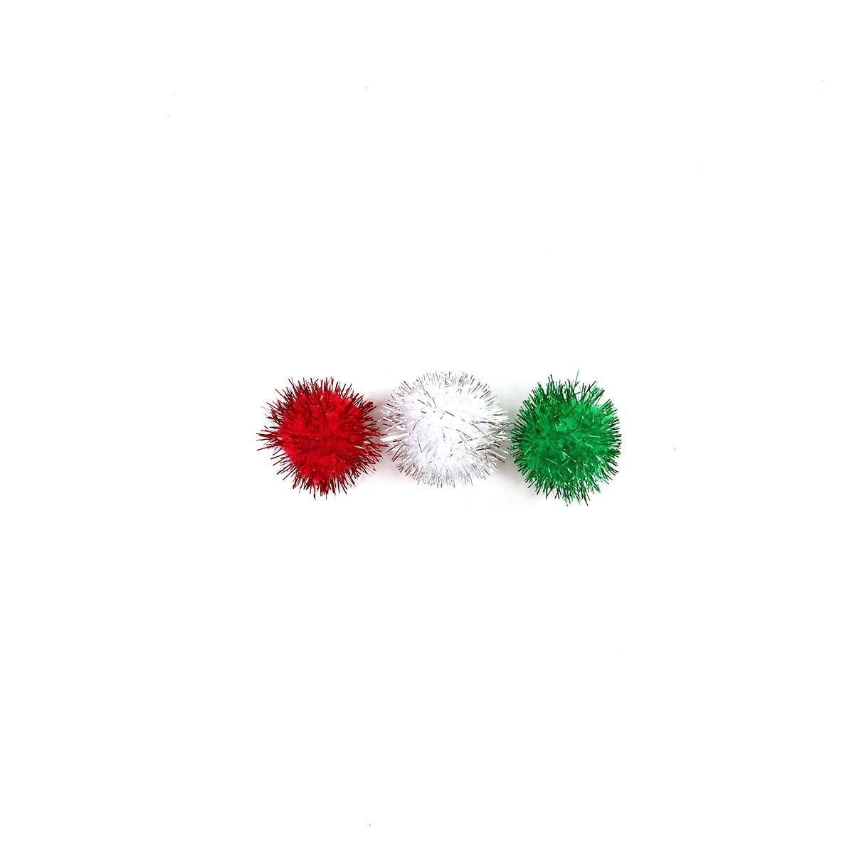 50 pompons Noël - brillant