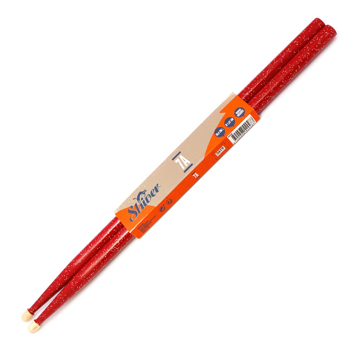 Shiver - Paire de baguettes Tear Drop 7A en noyer - Rouge