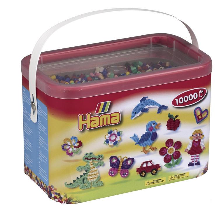 Baril 10 000 perles Hama - MIDI - mix 22 couleurs - 20267